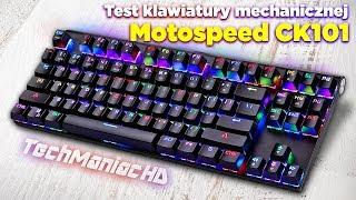 Test i recenzja taniej klawiatury mechanicznej LED 👍 unboxing Motospeed CK101 👍