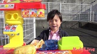 ドライブスルーお買い物ごっこ人気動画をまとめ連続再生!! こうくんねみちゃん Drive through hamburgers shop