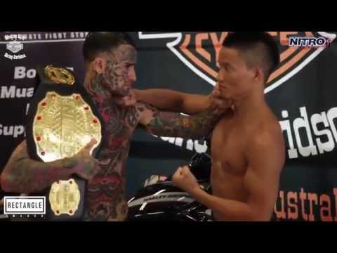 Tattooed bully acts cocky and gets knocked out in 20 seconds Official