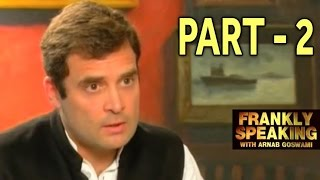 Frankly Speaking with Rahul Gandhi - Part 2   Arnab Goswami Exclusive Interview