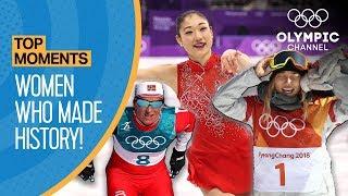 Top 5 Women who made History at PyeongChang 2018 | Top Moments