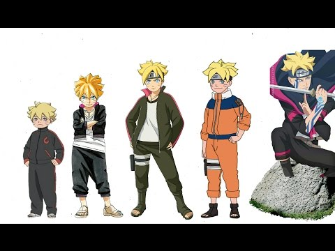 Naruto Characters Uzumaki Boruto s Evolution