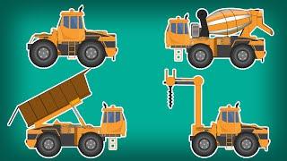 Transformer | Drilling Machine | Dumpster | Cement Mixer | Kids Video