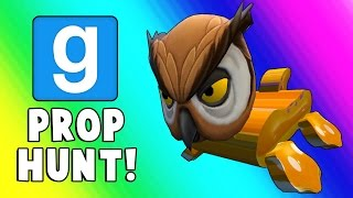 Gmod Prop Hunt Funny Moments - Snack House & Barrel Room! (Garry's Mod)