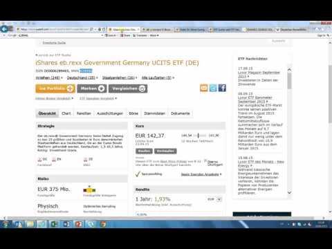 Finanziell Frei mit 50, Teil 43,   ETF auf den REXP (Deutscher Rentenindex)