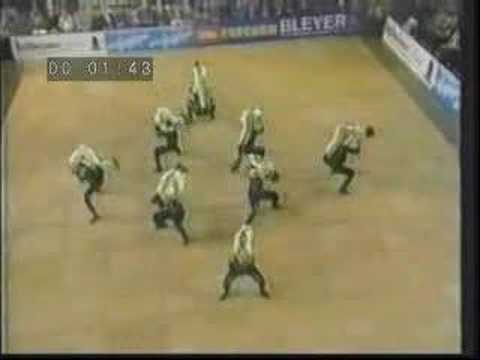 Acrobatic Team Dance Formations