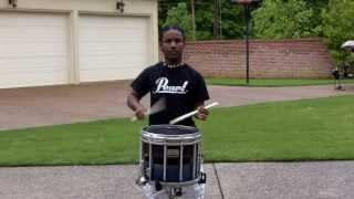 He's Back! Snare Solo: Flamnambulous--U.S. Army All-American Marching Band Audition