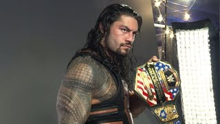 Roman Reigns is photographed with his new United States Championship: Sept. 26, 2016