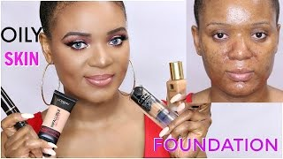 OILY SKIN FIX : BEST FOUNDATIONS FOR ACNE/OILY PRONE SKIN | OMABELLETV