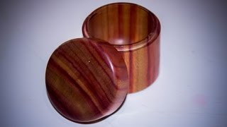Woodturning a  Ring Box Complete of Bloodwood