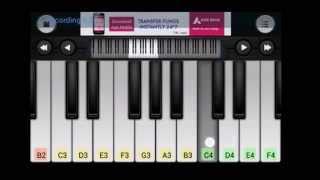 Kabhi jo badal barse piano tutorial