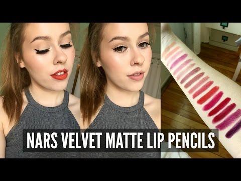 16 Nars Velvet Matte Lip Pencils - Review, Arm & Lip Swatches