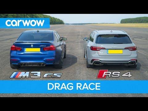 BMW M3 CS vs Audi RS4 review & DRAG RACE ROLLING RACE & BRAKE TEST