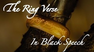 The Ring Verse (In Black Speech)