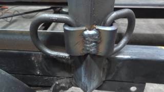 The 50 dollar trailer build - part 5 - Welding on the D-Rings