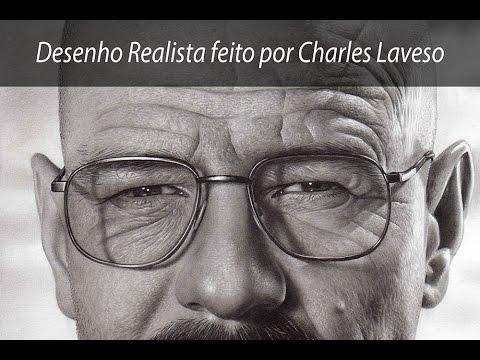 Charles Laveso desenhando Walter White Heisenberg