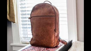 Roots Leather  Backpack- Go Pack Tribe 15inch