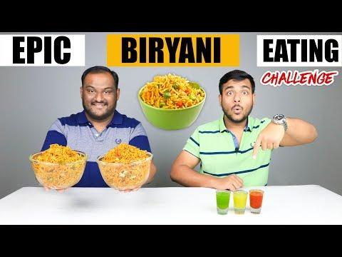 EPIC BIRYANI EATING CHALLENGE Biryani Eating Competition Food Challenge