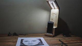 DIY Pallet desk Lamp - كيفاش قديت مصباح مكتب من الخشب
