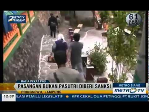 Satpol PP Pringsewu Bersama TNI dan Aparat Kepolisian Gelar Razia Pekat