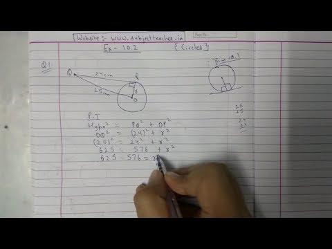 Xxx Mp4 Chapter 10 Exercise 10 2 Q1 Q2 CIRCLES NCERT Maths Class 10 3gp Sex