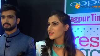 Oppo Times  Fresh  face 2017 Nagpur  winners  Rajshree Patil And  Abhi Bajpai