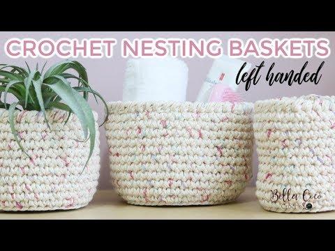 Xxx Mp4 LEFT HANDED CROCHET NESTING BASKETS Bella Coco Crochet AD 3gp Sex
