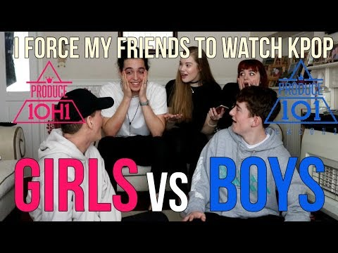 Download Lagu I FORCE MY FRIENDS TO REACT TO KPOP EP.4: PRODUCE101 GIRLS VS BOYS | Lexie Marie MP3
