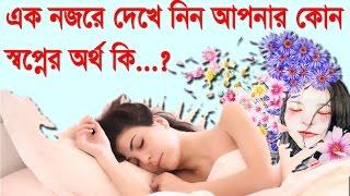 খুজে নিন আপনার স্বপ্নের বিস্তারিত অর্থ !! Sleep Dreams meaning [Bangla Tutorial]