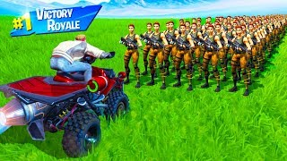 CAN 1,000 BOTS STOP a VEHICLE in Fortnite Battle Royale