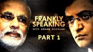 PM Modi on Frankly Speaking with Arnab Goswami | Exclusive Part 1