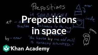 Prepositions of space | The parts of speech | Grammar | Khan Academy