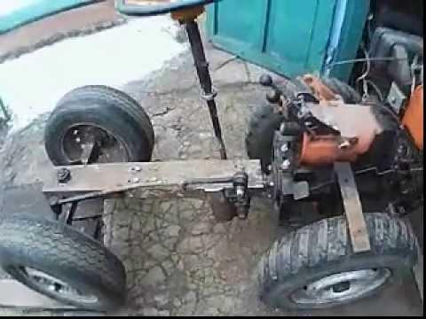 Адаптер к мотоблоку с рулем своими руками