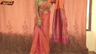 Pure Silk Saree Blouse Draping Video|Learn How To Wear Perfect Indian Sari easily