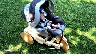 Wood geared baby soothing machine