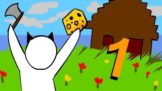 """Minecraft for noobs (Cartoon) part 1 """"Surviving the first 2 nights"""""""
