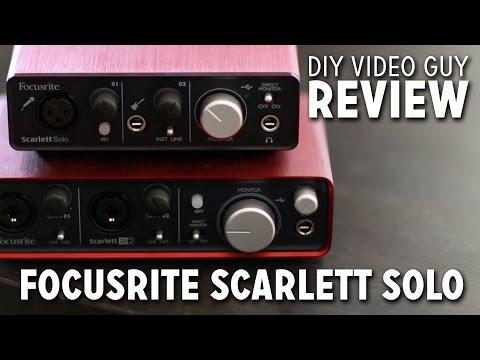 Focusrite Scarlett Solo Review Unboxing