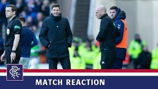 REACTION   Steven Gerrard   Rangers 1-0 Celtic