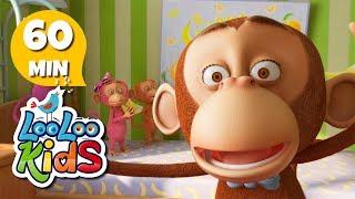 Five Little Monkeys - Great Songs for Children | LooLoo Kids