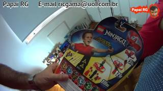 #2 LEGO Ninjago Kai Airjitzu Flyer Voador Voa Papai RG Filho Homem de Ferro Brinquedos  Toys Kids