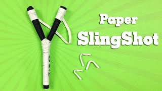 How to make a Paper Gun Slingshot very simple and strong - Toy Weapon