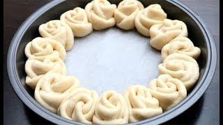 Rose Buns Recipe | Flower Bread 🌹 Super Soft & Chewy Milk Bread Rolls