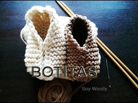 Patrón para tejer botitas patucos zapatitos escarpines fácil y rápido