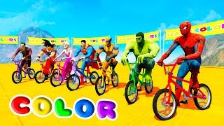 LEARN COLOR BMX OFFROAD CARS For Kids and Babies 3D Animation Cartoon