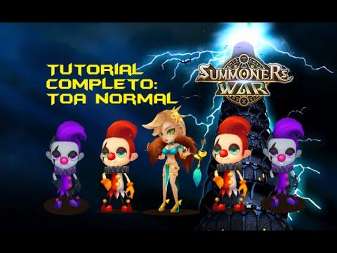 Tutorial TOA Normal: Seara + 2x Jojo + 2x Liebli  - Arena Summoners War