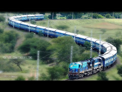 The Most Beautiful SNAKE CURVE : Indian Railways S-Curve
