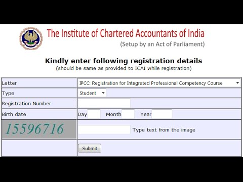 how to download cpt ipcc ca final registration letters