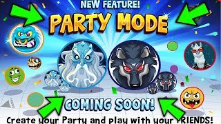 Agar.io Mobile || FINALLY PARTY MODE!!! || NEW AMAZING SKINS *KINGDOM OF WOLVES* || AGARIO HACK?!