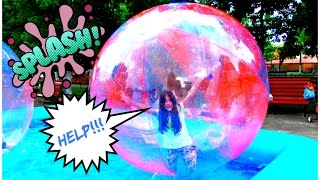 Giant WATER BALL POOL - Outdoor Playground Fun with Walking Water Ball - Activities For Kids