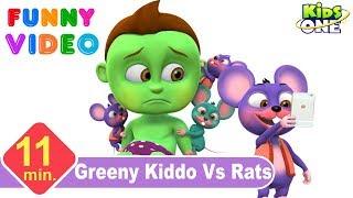 GREENY KIDDO Hates RATS   Funny Vidoe for Children - KidsOne
